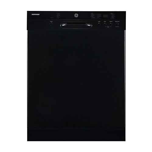24-inch Front Control Built-In Dishwasher with Stainless Steel Tub in Black