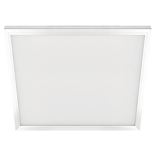 2 ft. x 2 ft. 48W Integrated LED Wht Edge-Lit Flt Pnl T-Bar Grid Troffer/Flushmnt w/Color Change CCT