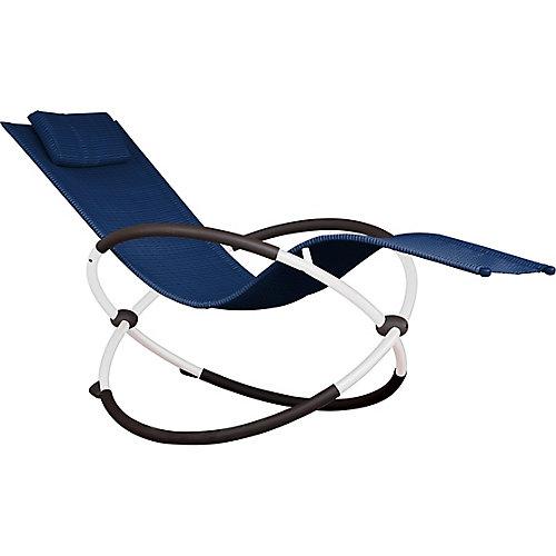 Orbital Lounger - Single (Navy on Matte White)