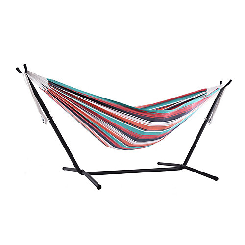 Combo - Double Plumeria Hammock with Stand (9 ft.)