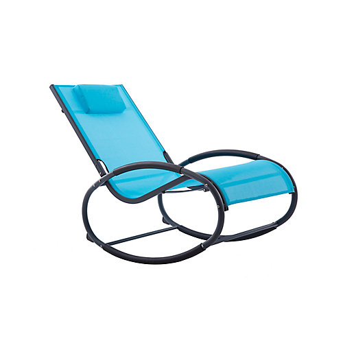 Wave Rocker - Aluminum - (Ocean Blue on Matte Dark Grey)