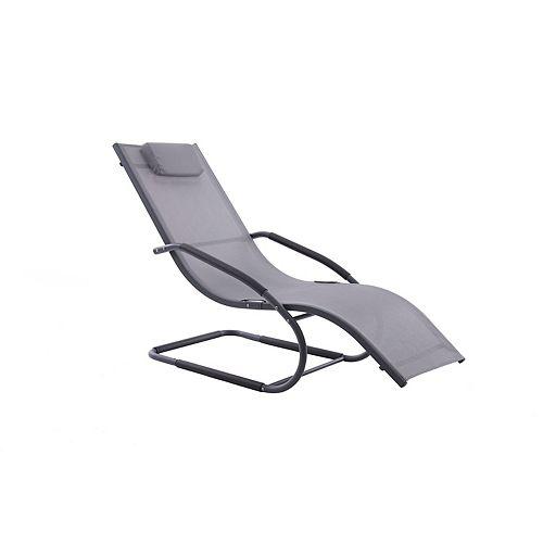 Wave Lounger - Aluminum - (Grey on Matte Black)