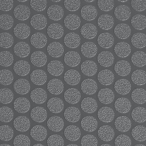 Small Coin 5 ft. x 10 ft. Slate Grey Vinyl Garage Flooring Cover and Protector