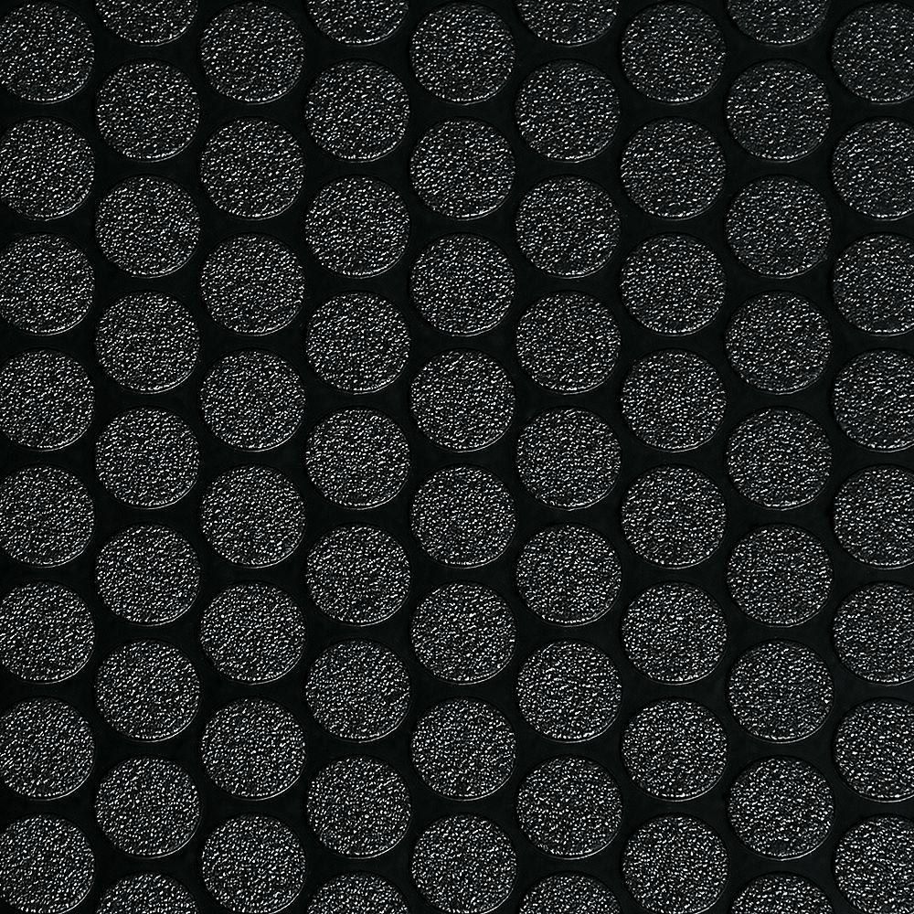 G-Floor Revêtement protecteur pour sols de garage de qualité commerciale Small Coin, 5 pi x 10 pi, vinyle, noir minuit