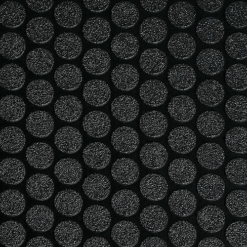 Revêtement protecteur larmé pour garages de qualité commerciale, 8,5 x 24 pi, noir de minuit
