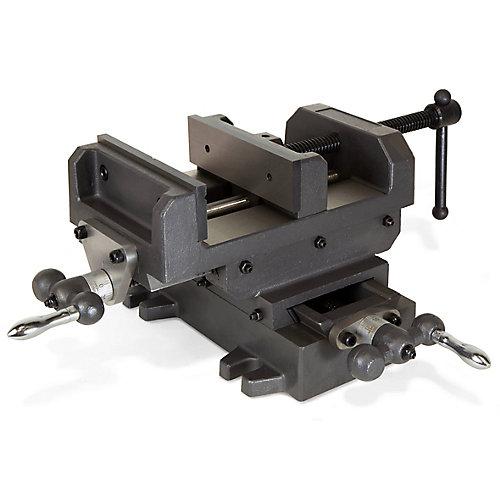 Étau pour établi de force industrielle équipées de coulisses croisées WEN 6-1/8 po (15,6 cm)