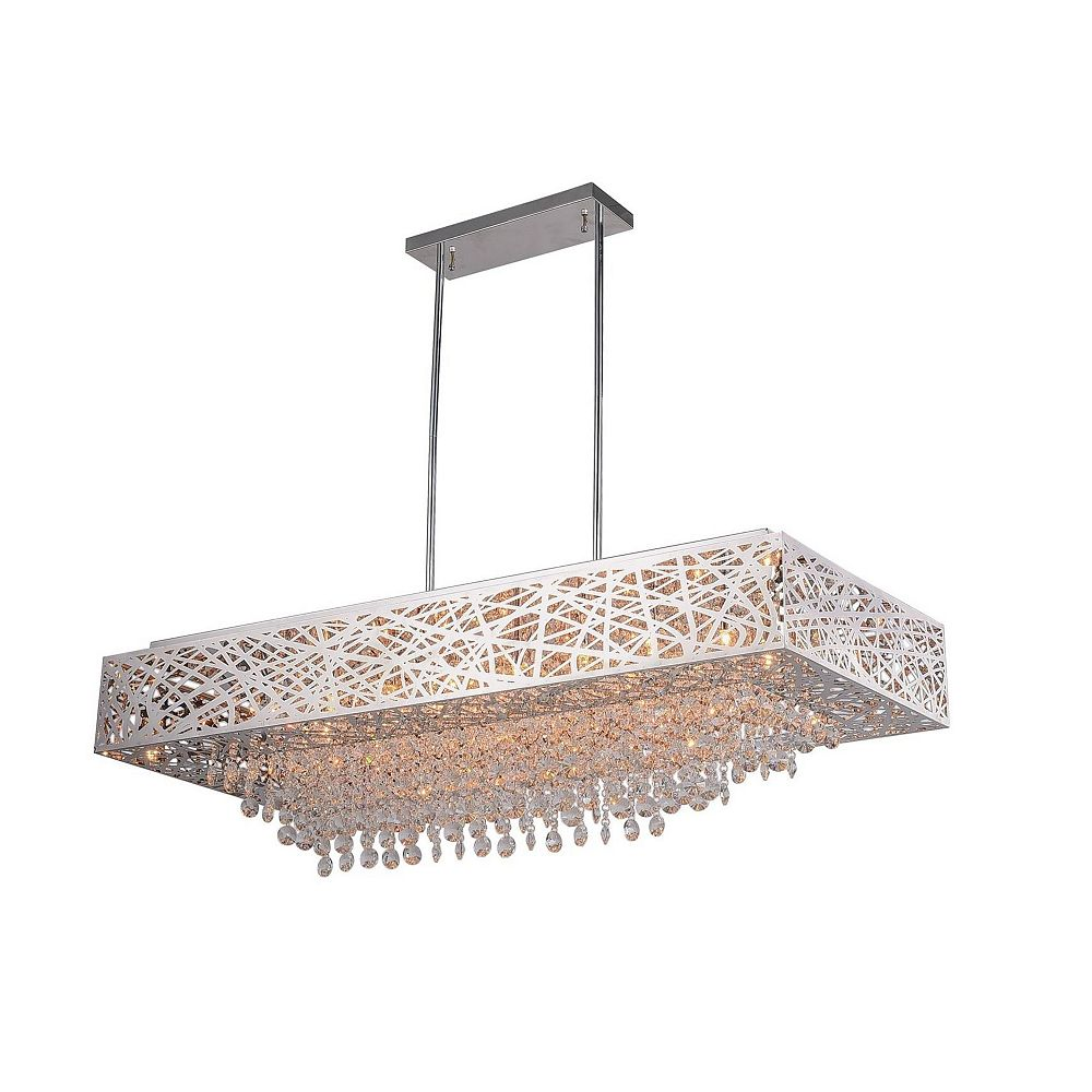 CWI Lighting 46 inch 16 Light Chandelier with Chrome Finish From our Eternity Collection