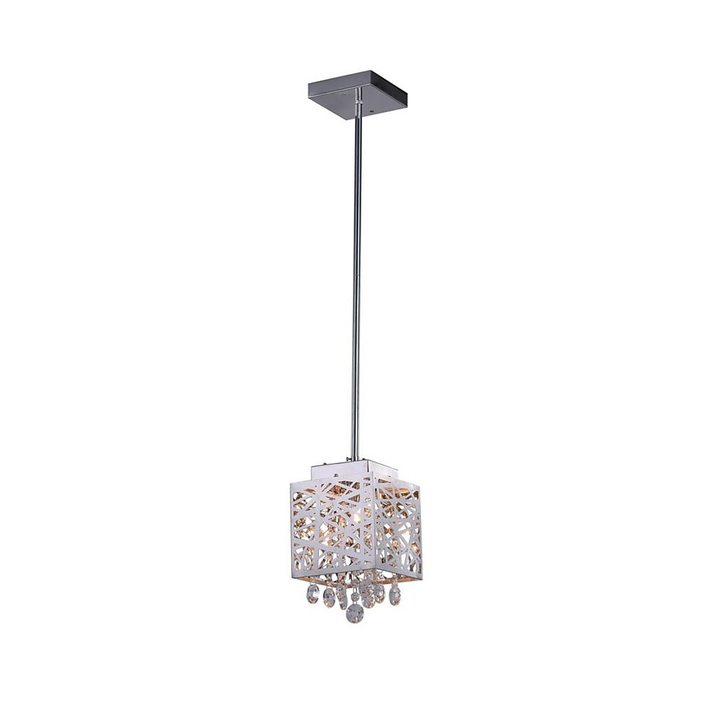 CWI Lighting 6 inch 1 Light Pendant with Chrome Finish From our Eternity Collection