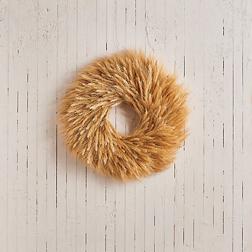Natural Blonde Wheat Wreath