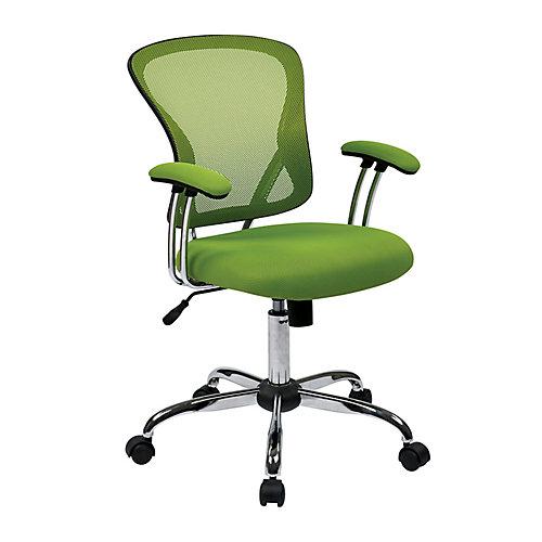 Chaise de bureau Juliana, siège en tissu maillé vert