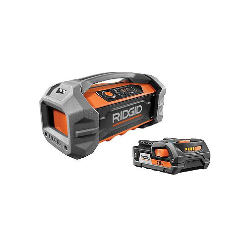 18-Volt Bluetooth Jobsite Radio Kit with 2.0 Ah Battery