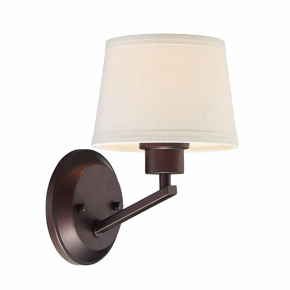Designers Fountain Incandescent 1-light  Wall Sconce,Satin Platinum Finish, Etched Seedy Glass