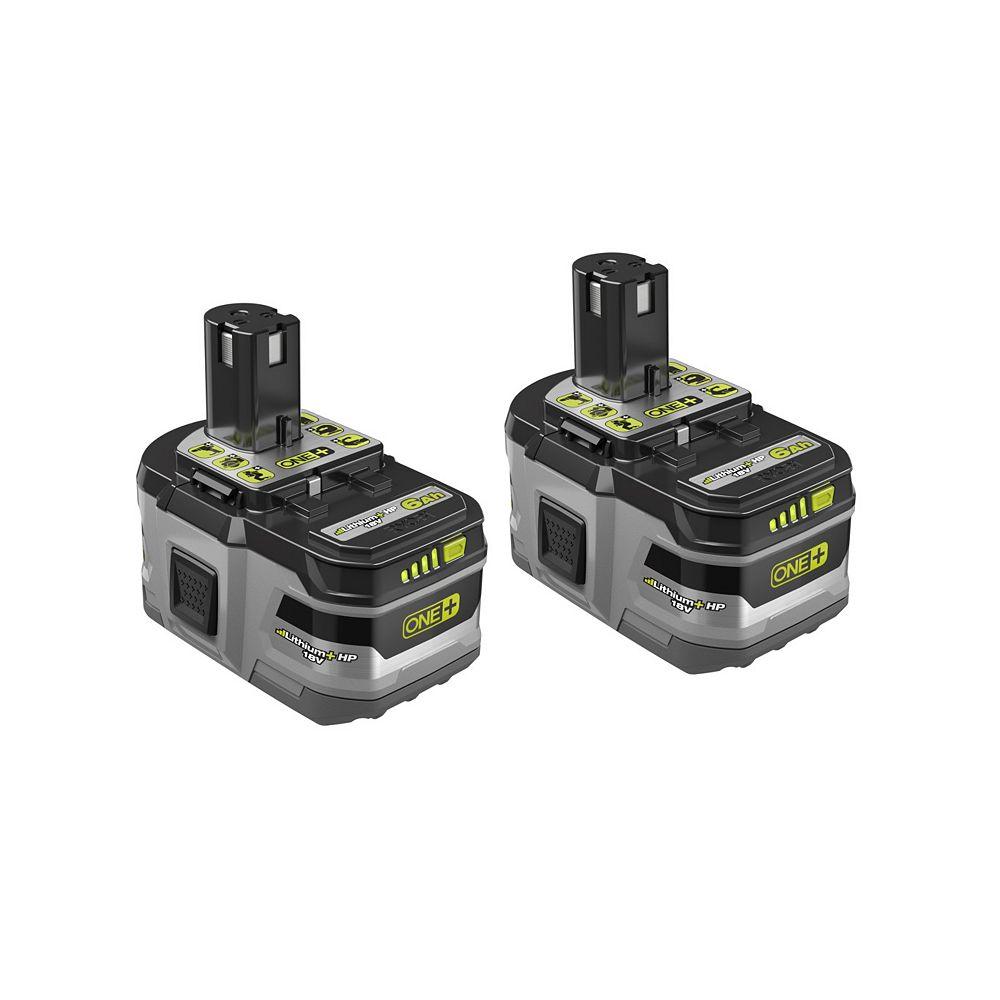 RYOBI 18V ONE+ 6.0Ah Battery (2-pack)
