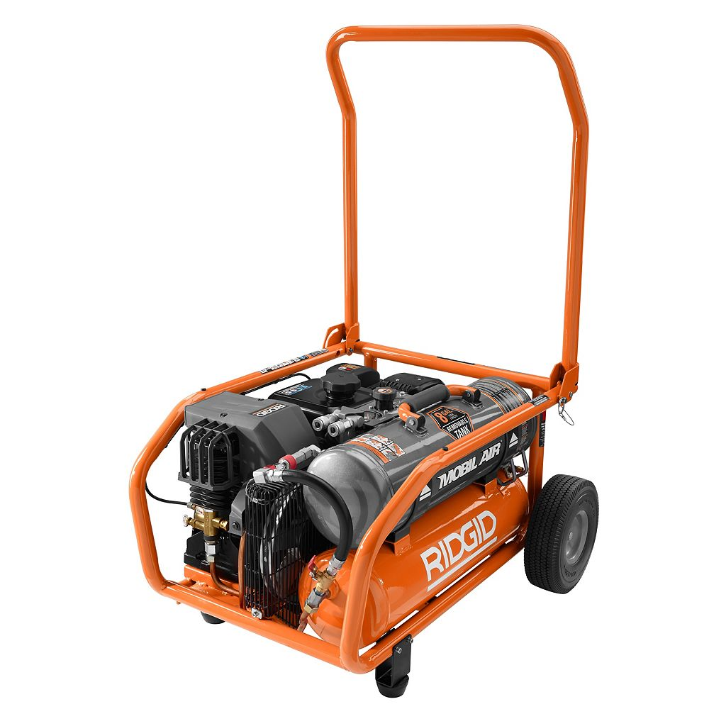 RIDGID Zero Gravity 8 Gal. Gas Power Air Compressor