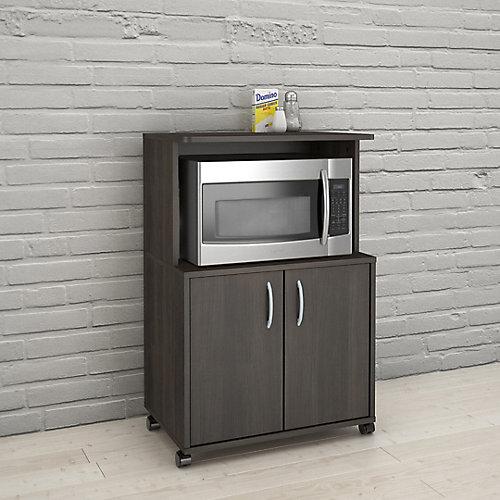 2-Door Mobile Microwave Cart, Ebony