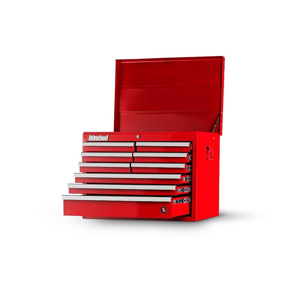 International Coffre de 27 po à 9 tiroirs, rouge