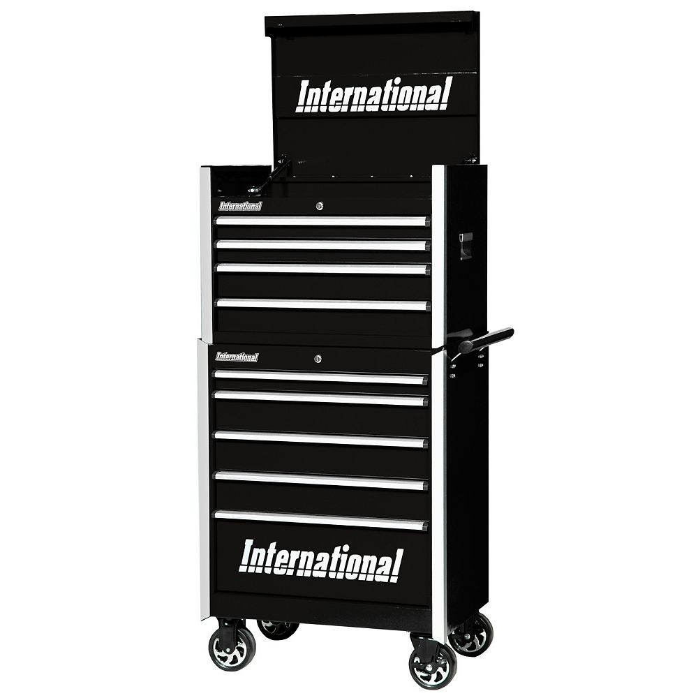 International Professional Series 27-inch 9-Drawer Top Chest and Cabinet in Black