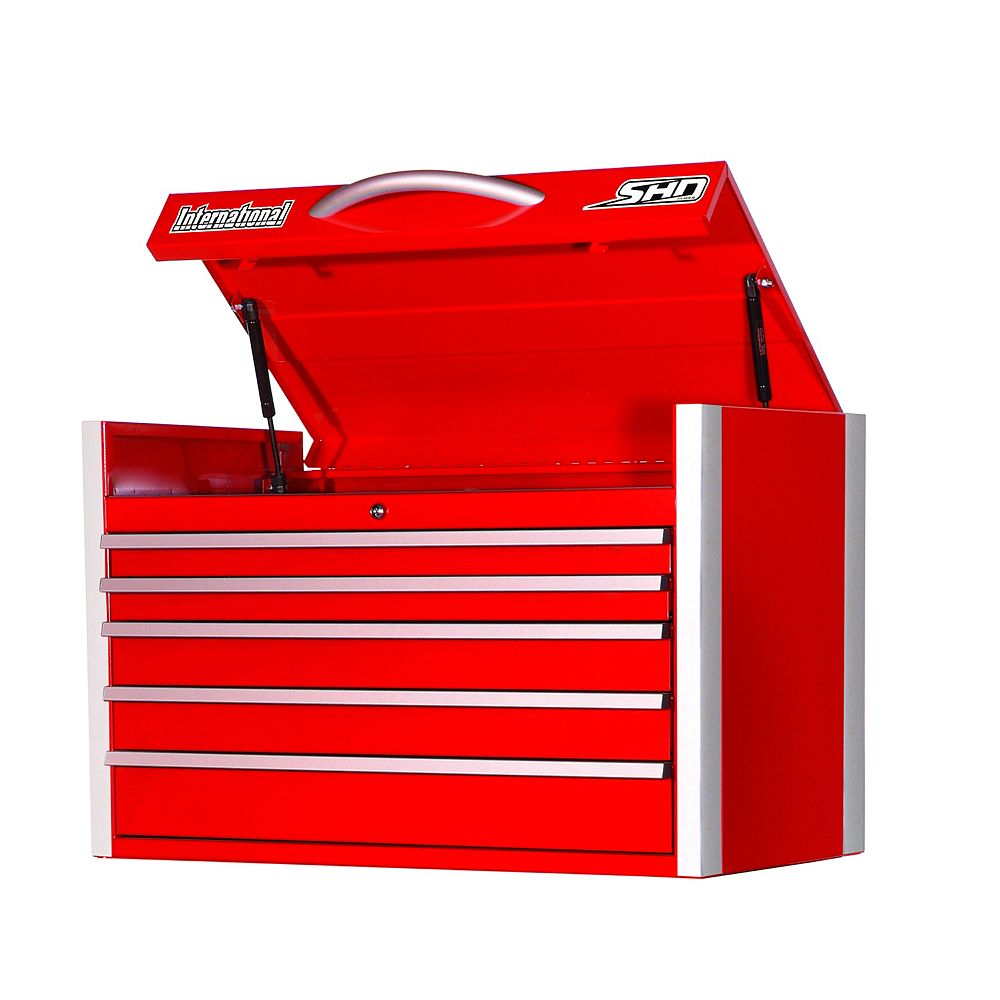 International SHD Series 35-inch 5 -Drawer Top Chest in Red