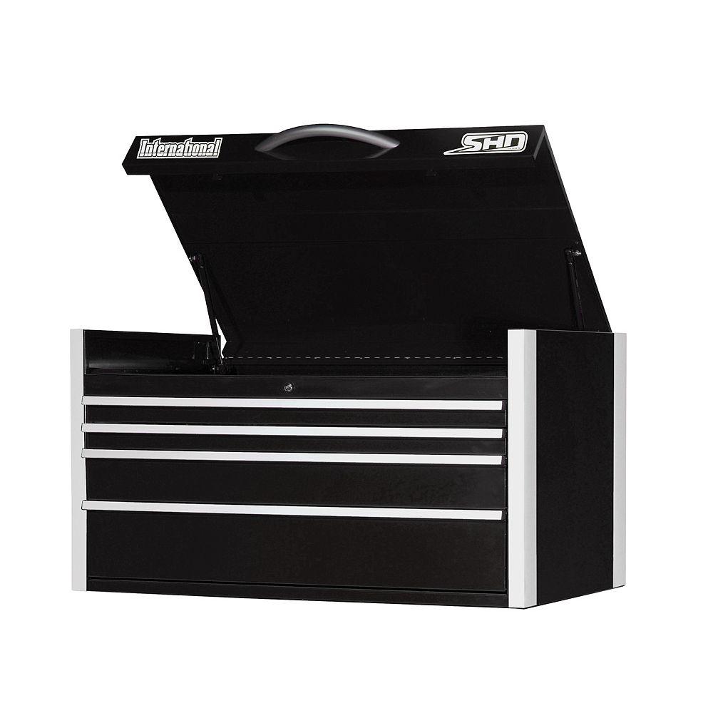 International SHD Series 42-inch 4-Drawer Top Chest in Black