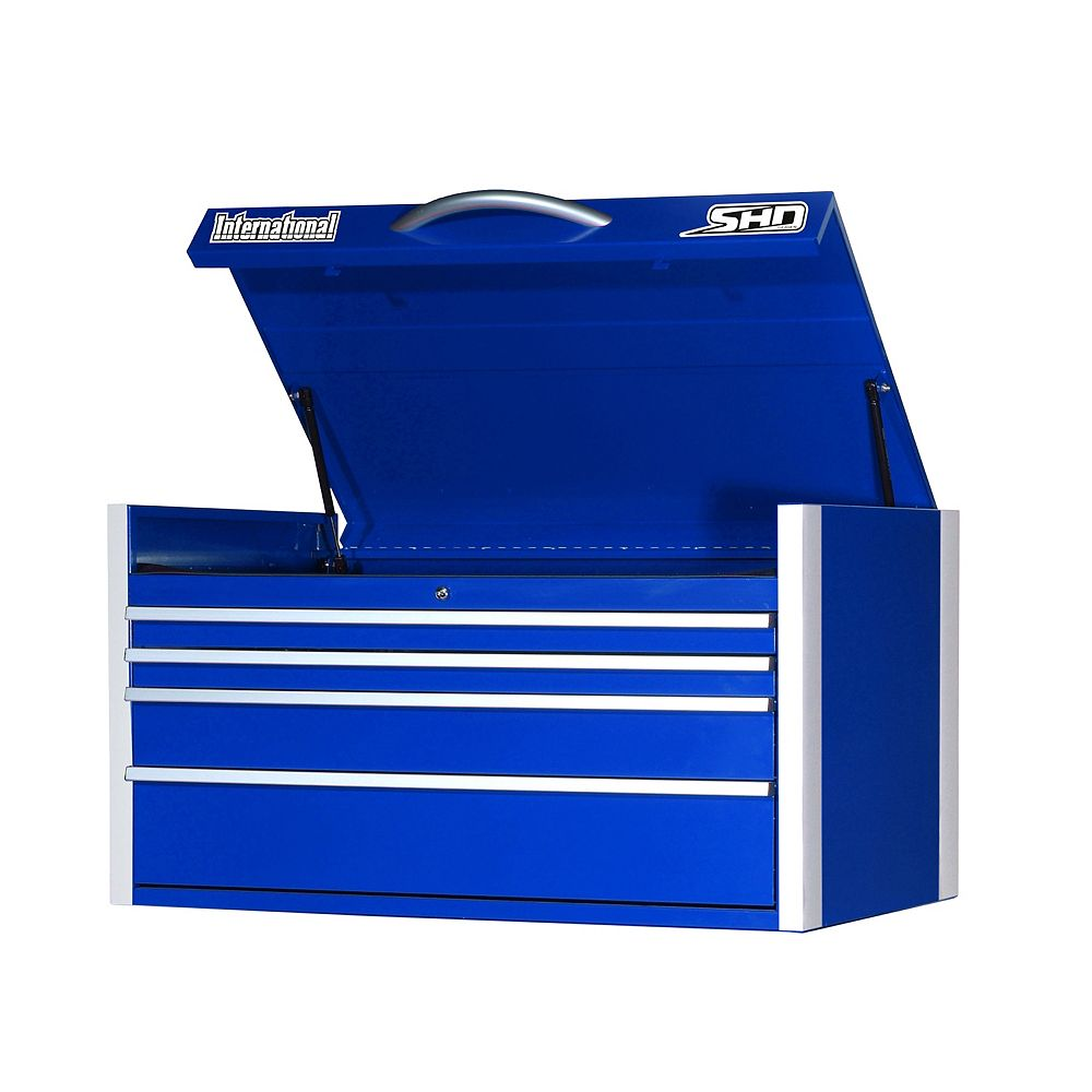 International SHD Series 42-inch 4 -Drawer Top Chest in Blue