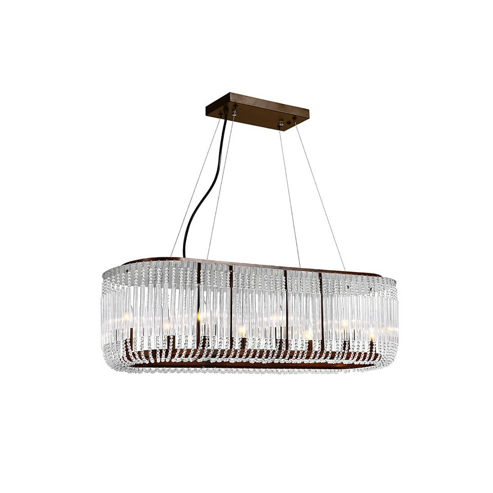 CWI Lighting 43 inch 8 Light Chandelier with Chocolate Finish From our Francessca Collection