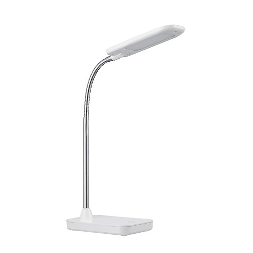 Integrated LED Desk Lamp in White and Chrome