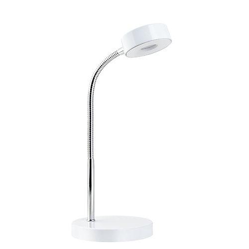 Lampe de bureau à ampoule DEL intégrée, fini blanc mat - ENERGY STAR®