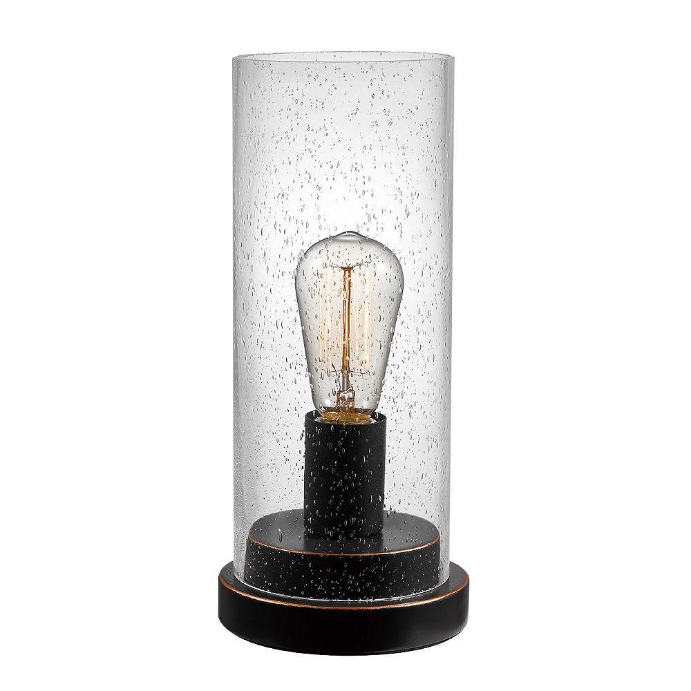 Globe Electric Lampe de table Tybalt, 12 po, bronze huilé