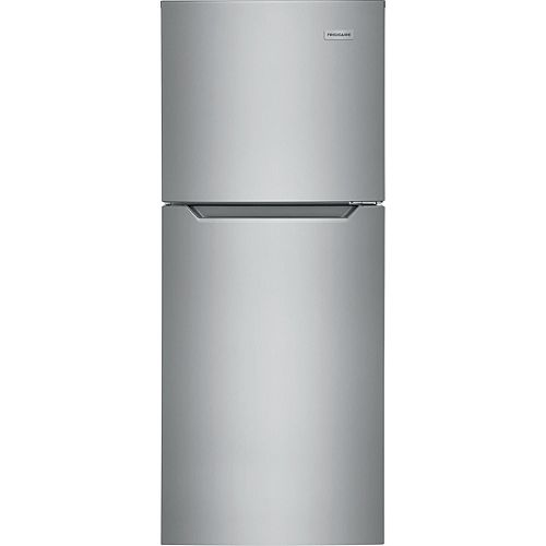 24-inch W 11.6 cu. ft. Top Freezer Apartment-Size Refrigerator in Brushed Stainless Steel - ENERGY STAR®