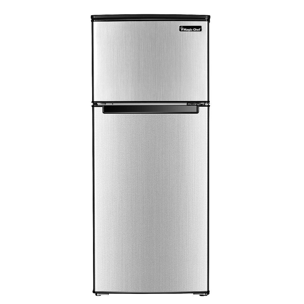 Magic Chef 4.5 cu. ft. 2-Door Refrigerator in Stainless Steel Finish