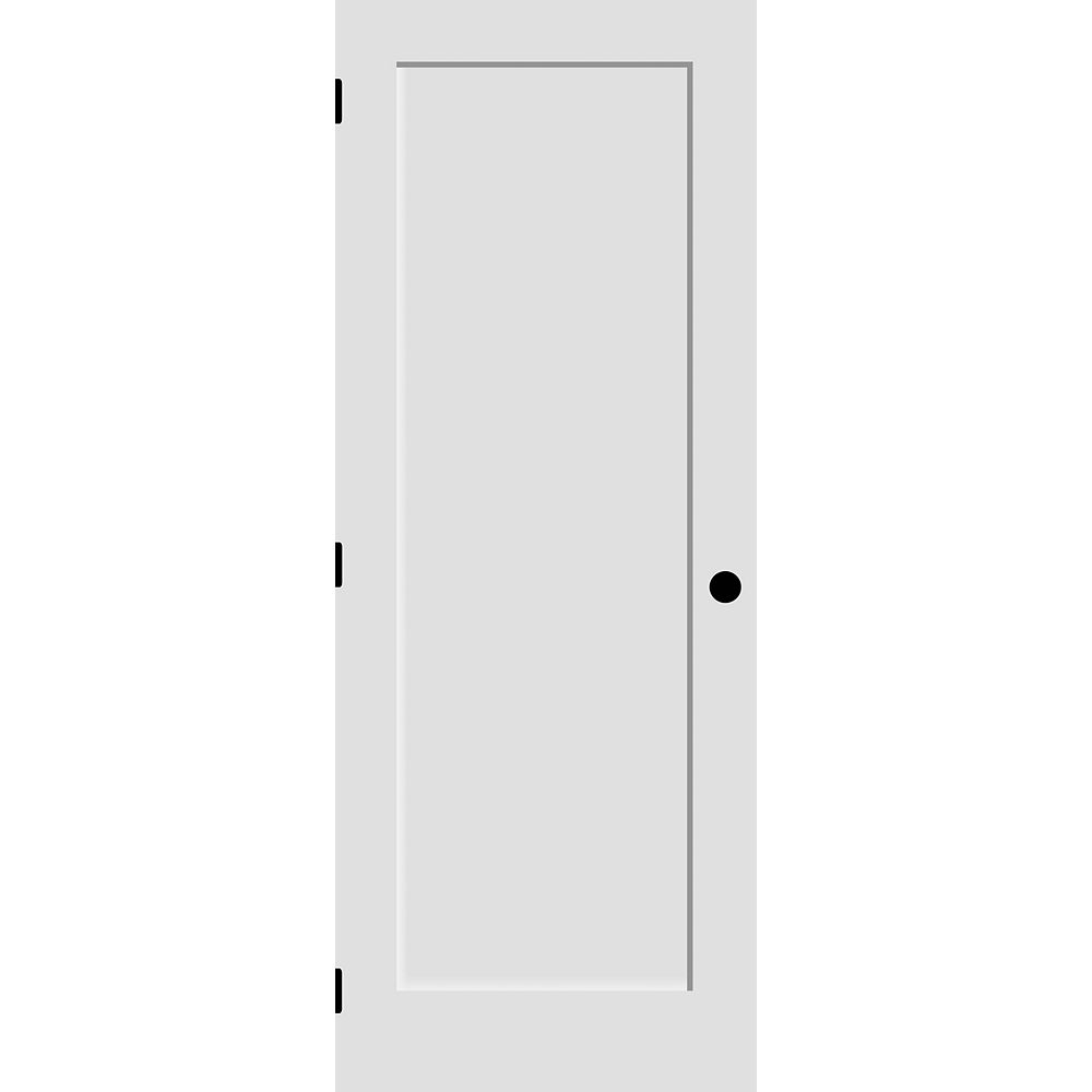 Milette 24-inch x 80-inch Primed 1-Panel Shaker Style Door Machined