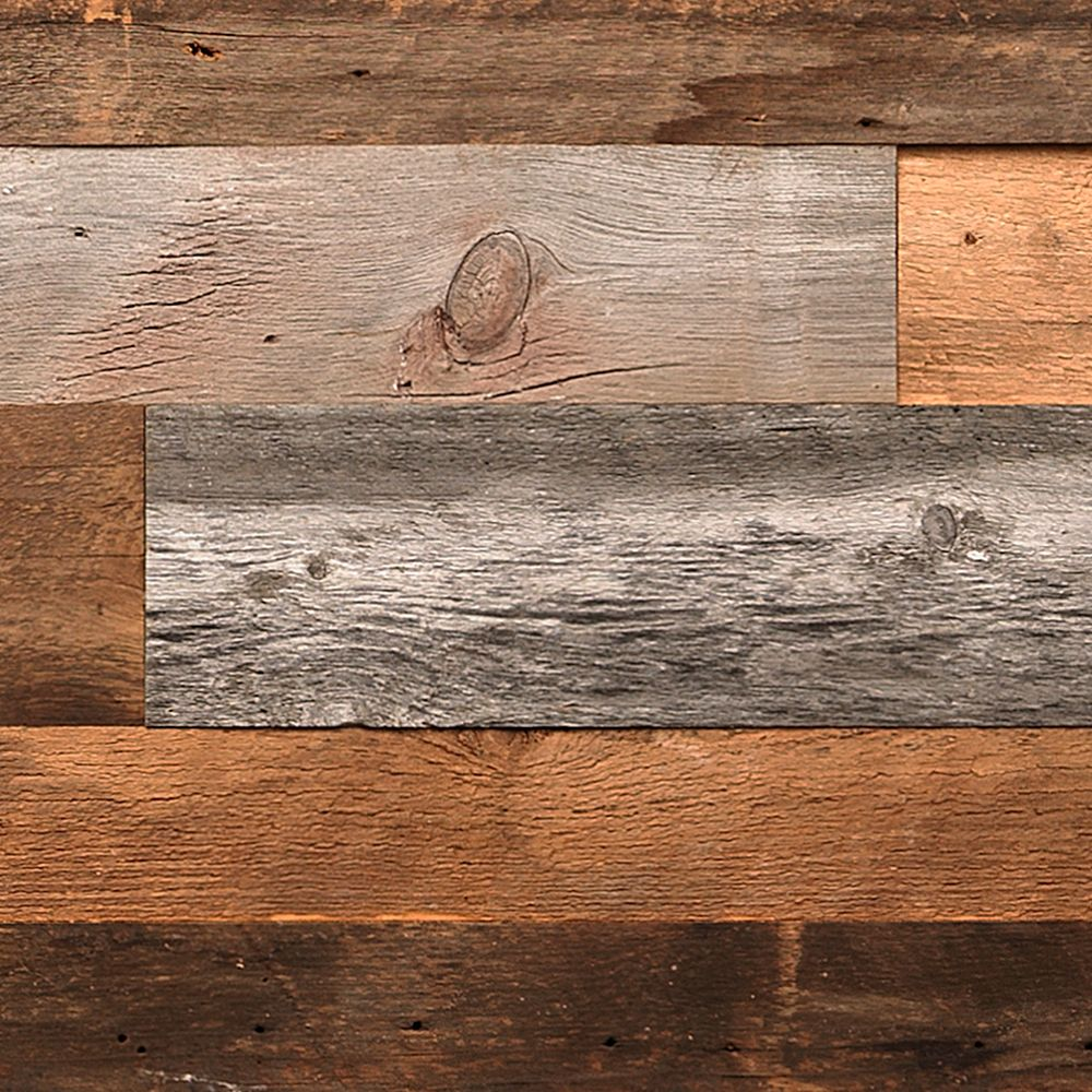 Barn-Wall Varying Length, Thickness and Width Barn Board Wall Panels (14 sq.ft. / case)