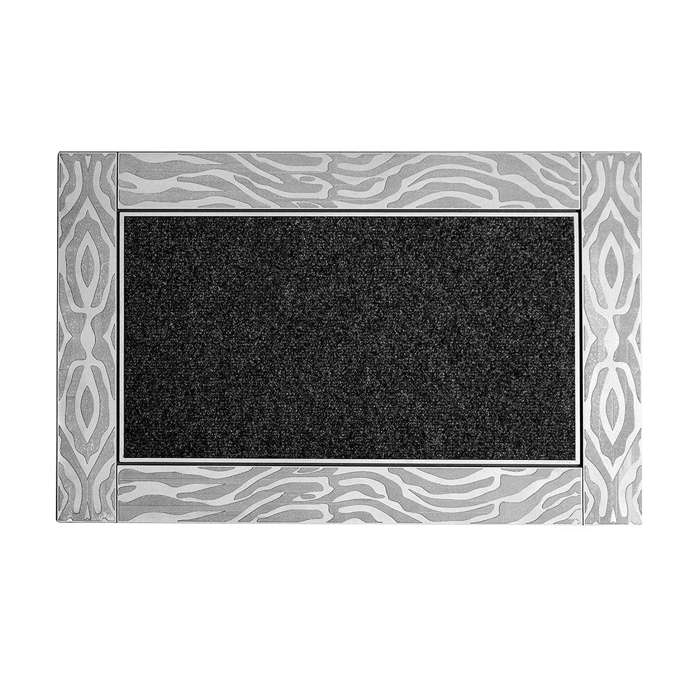 Modern Homes Estee 24-inch x 35-inch Silver Door Mat