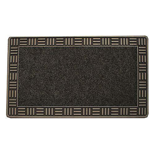 Tapis d'accueil, 18 po x 30 po, Framed, bronze