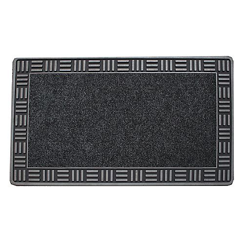 Floor Choice Framed 18-inch x 30-inch Silver Door Mat