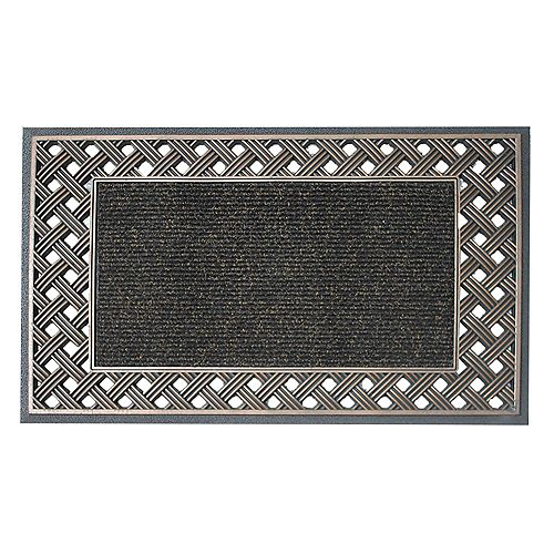 Floor Choice Tapis d'accueil, 18 po x 30 po, Engraved, bronze