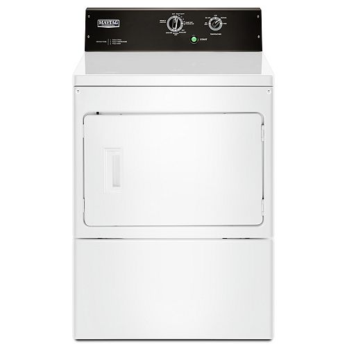 Maytag 7.4 cu. ft. Front Load Commercial Gas Dryer in White