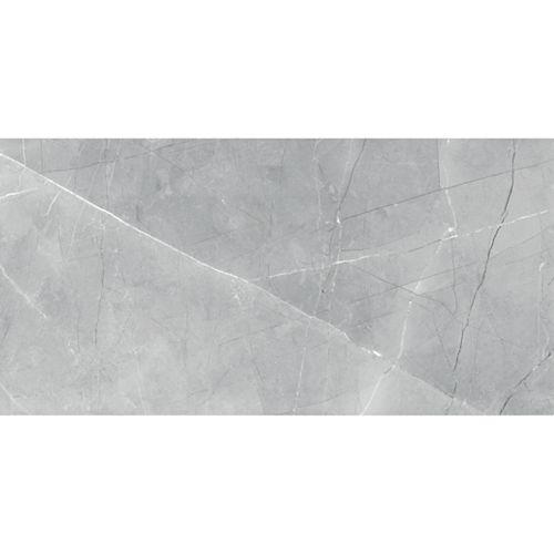 Carreaux, 12 po x 24 po, porcelaine polie rectifiée HD, gris Pulpis, 15,5 pi2/caisse