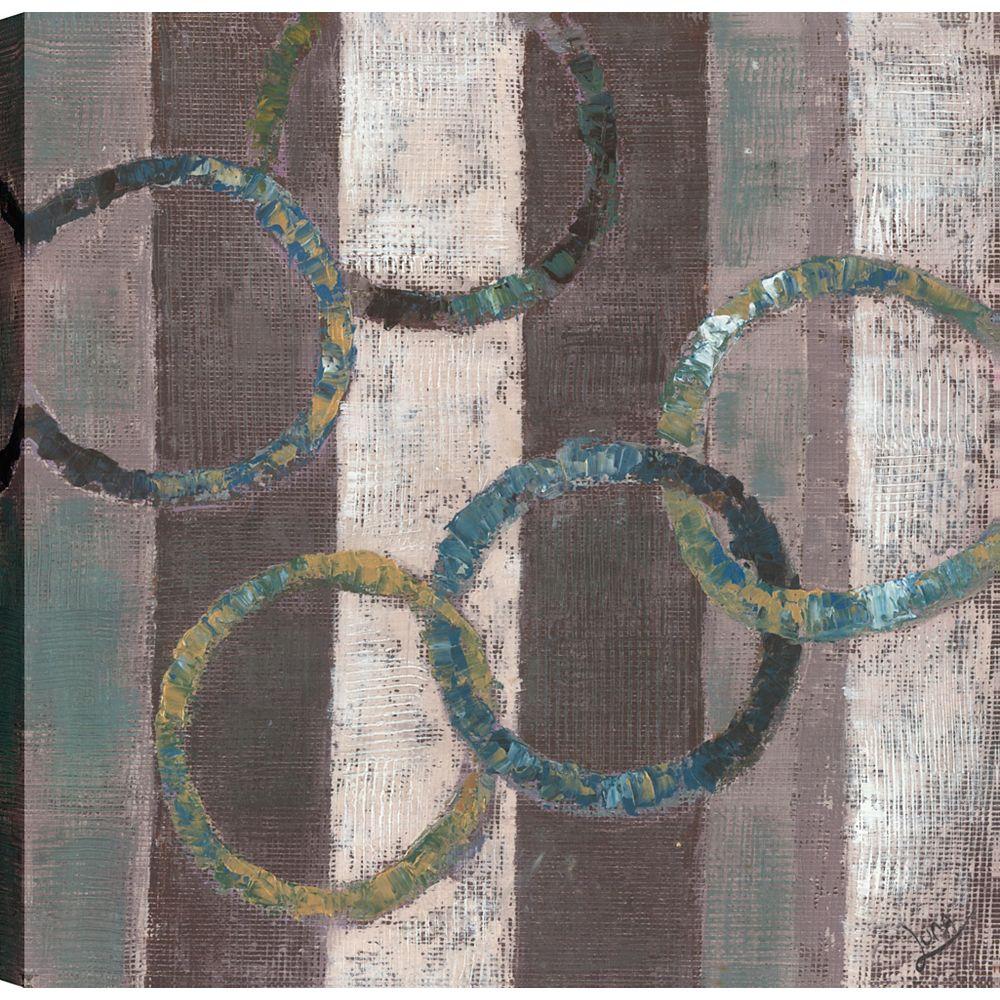 Art Maison Canada Abstraits couleurs j'ai, Art abstrait, toile impression mur Art Décor 24 X 24 prêt à accrocher