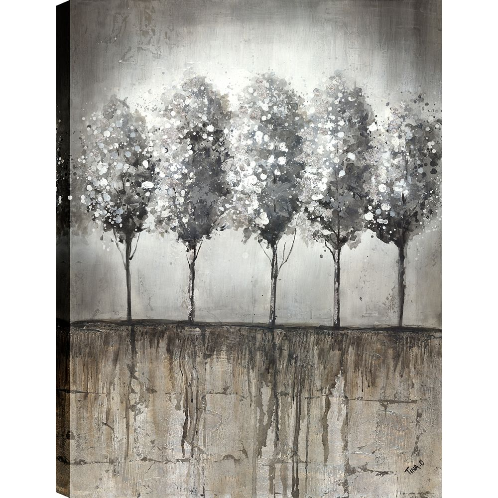 Art Maison Canada Arbre bouleau IV, Art du paysage, toile impression mur Art Décor 40 X 30 prêt à accrocher