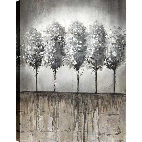 Tree Birch IV, Landscape Art, Canvas Print Wall Art Décor 40X30 Ready to hang