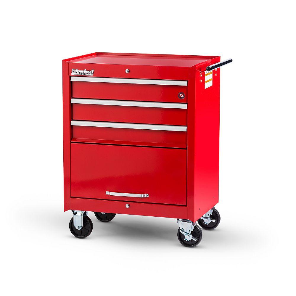 International Armoire de 27 po à 3 tiroirs et 1 porte, rouge