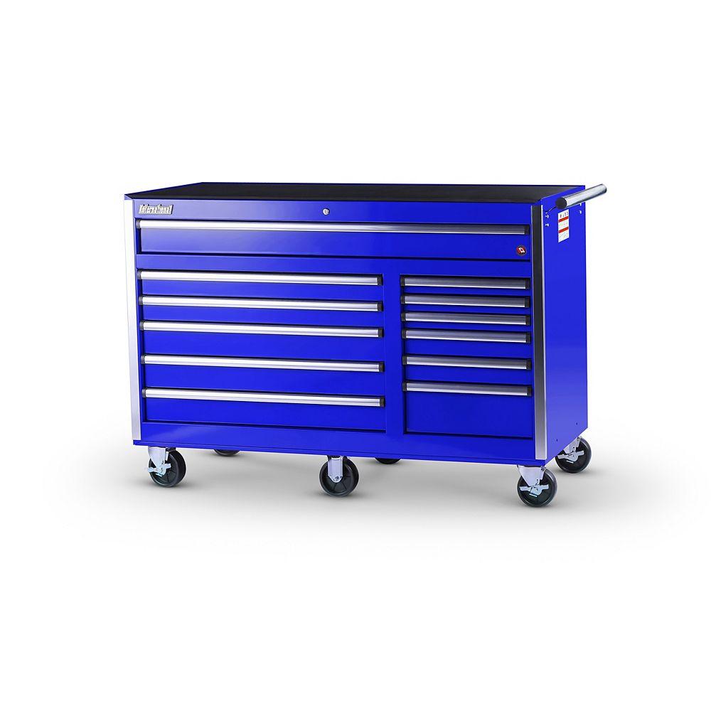 International Armoire de 56 po a 12 tiroirs profonds, bleu