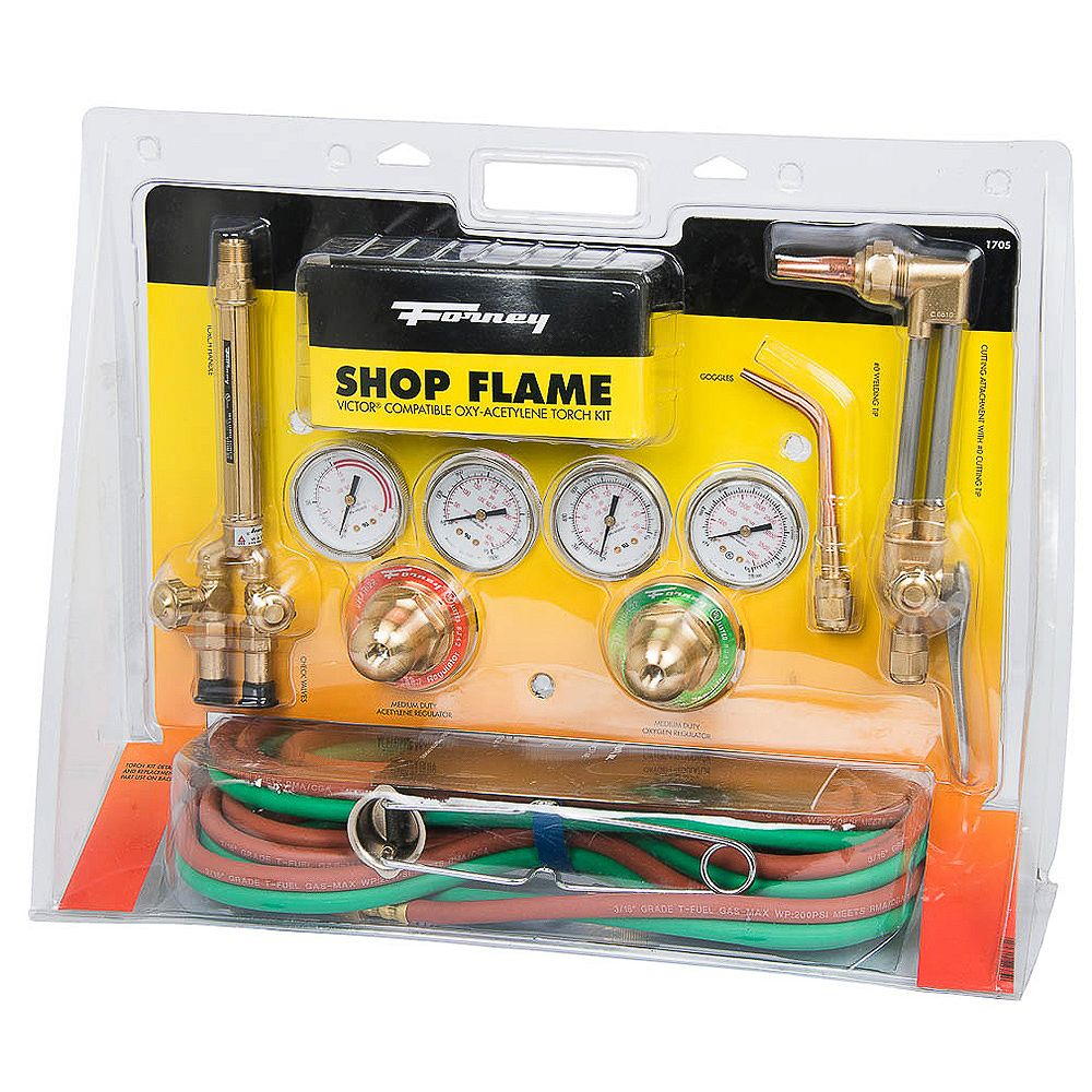 Forney Industries Shop Flame Medium Duty Torch Kit