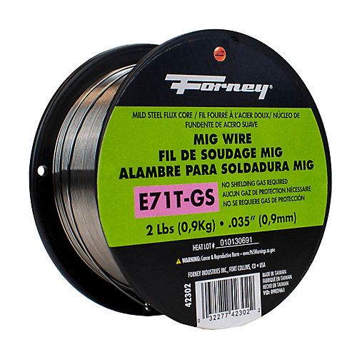 E71T-GS Self, .035 inch x 2 lbs., Steel MIG Welding Wire