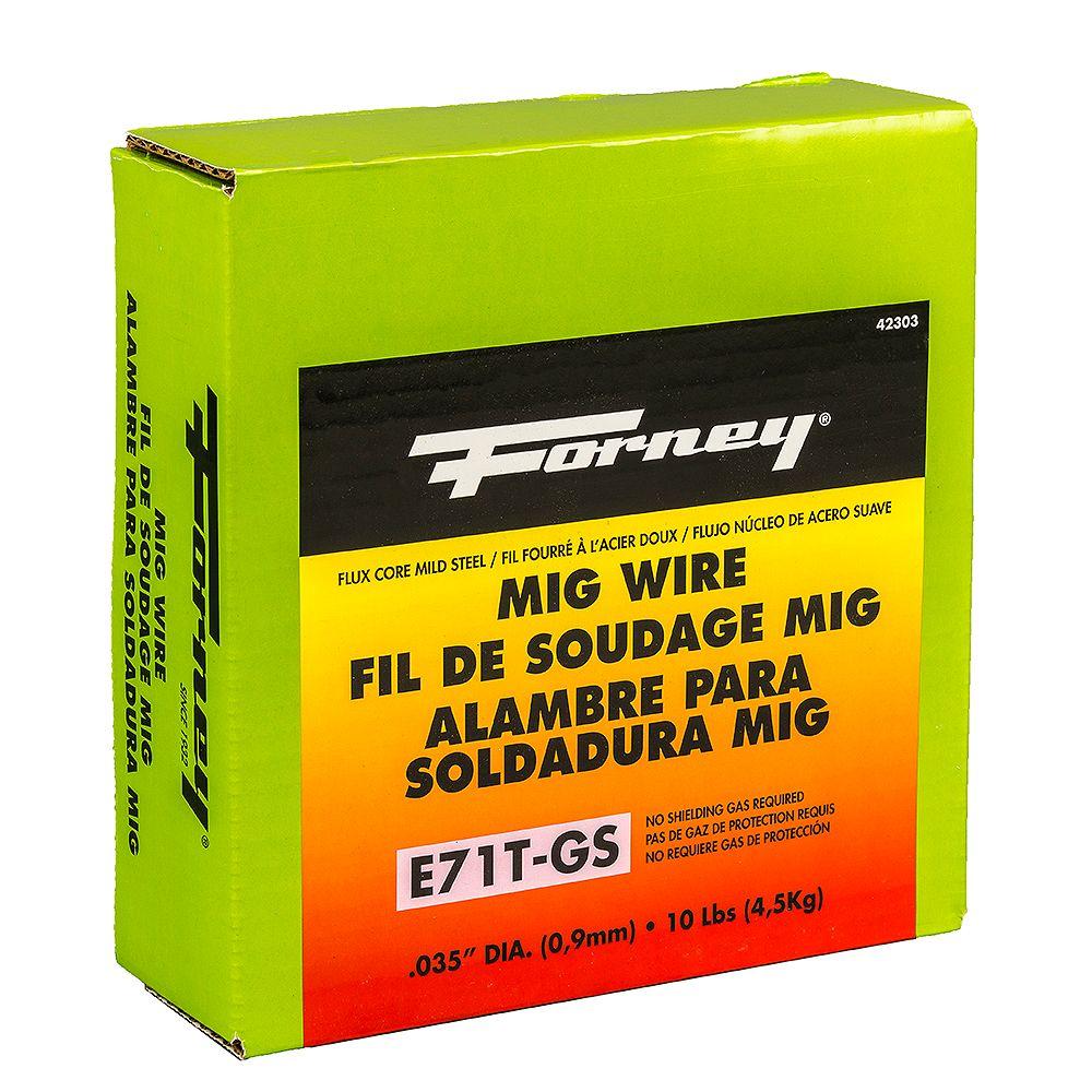 Forney Industries E71T-GS Self, .035 po x 10 lbs., acier MIG (gaz inerte métallique) Fil de soudage