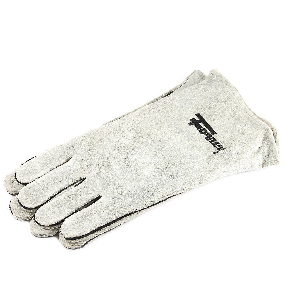 Forney Industries Gray Leather Welding Gloves (Men's L)