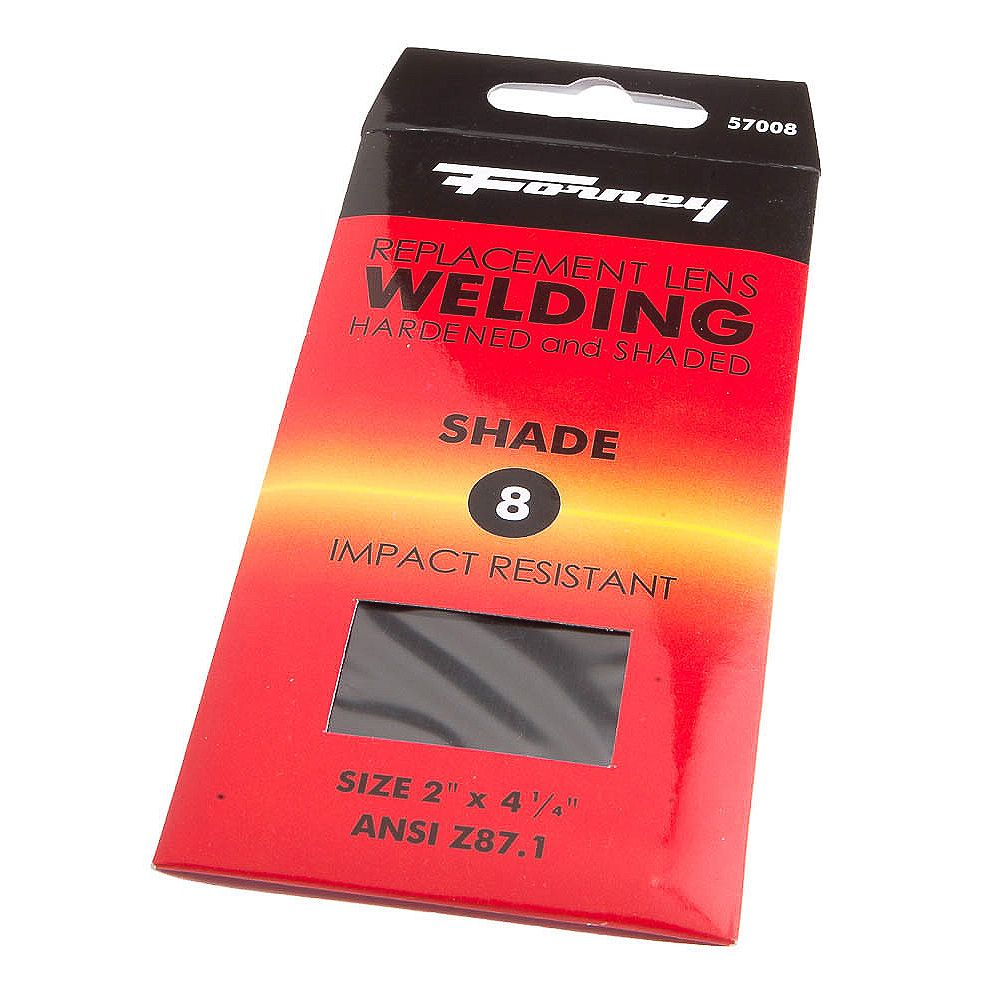 Forney Industries Welding Lens, 2 inch x 4-1/4 inch, Shade #8