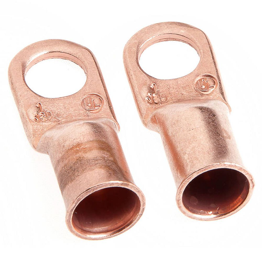 Forney Industries Lug for #1 Cable, 3/8 inch Stud, Premium Copper