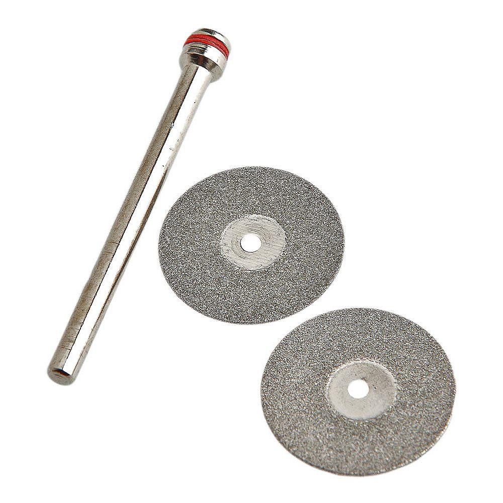 Forney Industries 60250 Kit de Roues Diamantées, 3/4 po avec Mandrin 1/8 po, 3 Pièces